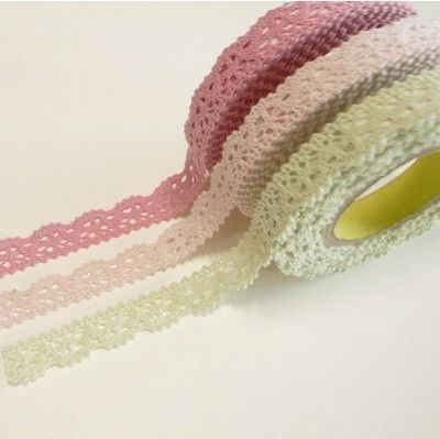 Fabric Lace Washi Tape Ribbon Cotton Trim DIY Self Adhesive Shabby Chic Pastel L