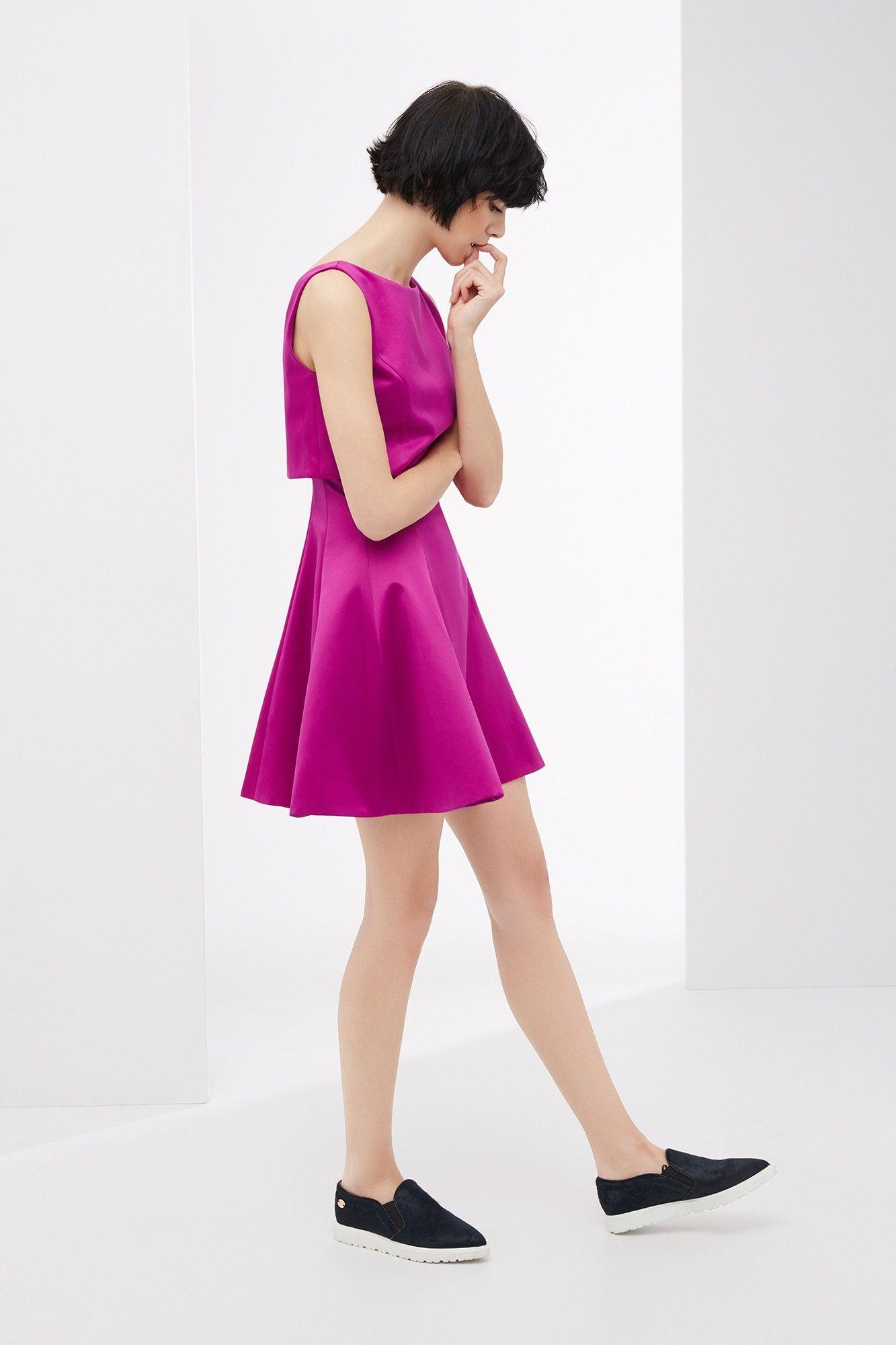Vestido skater dos piezas - vestidos | Adolfo Dominguez shop online ...