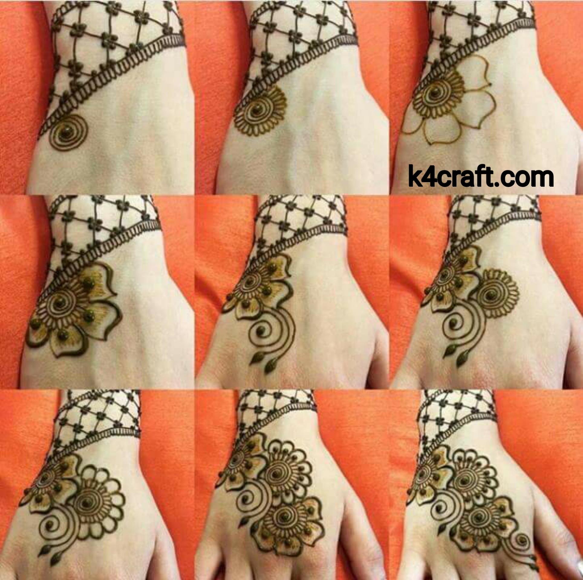 Easy Henna Mehndi Design Step By Step Step By Step Ideas