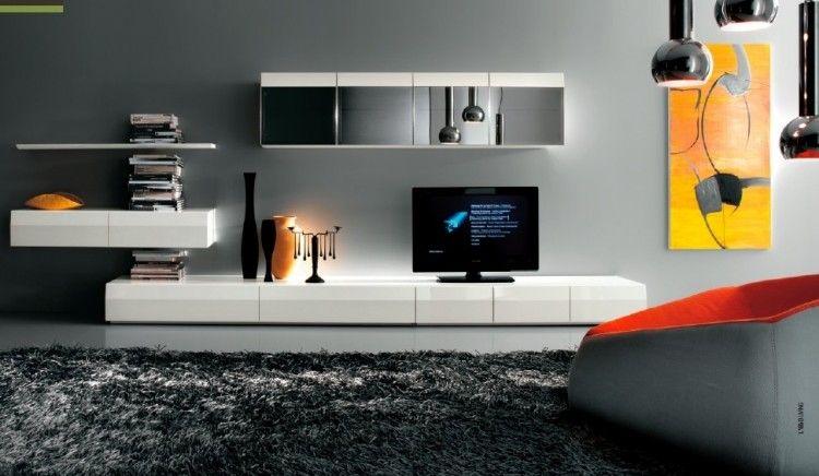 Meuble TV pour votre salon moderne 20 idées inspirantes! Interiors - Meuble Tv Avec Rangement