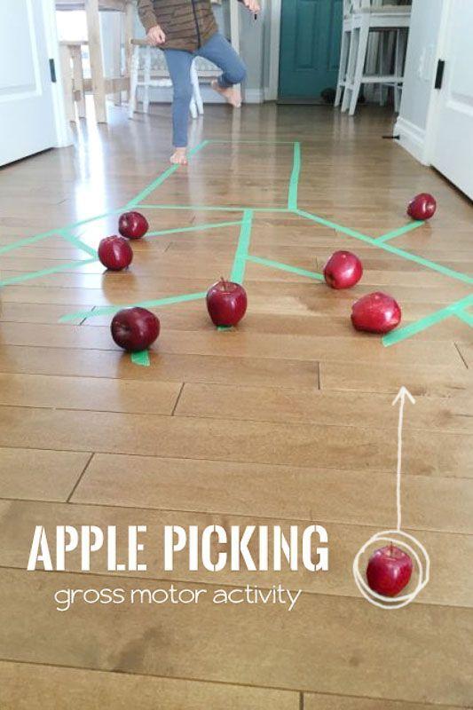 No Prep Gross Motor Indoor Apple Picking Activity