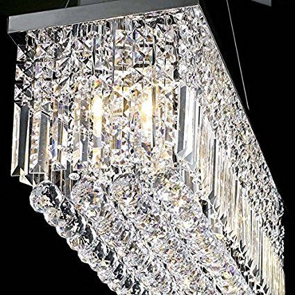 Drops of Rain 6 Light Chrome Pendant with Clear European Crystals