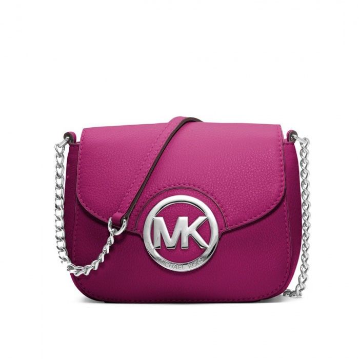 MICHAEL Michael Kors Fulton Leather Small Crossbody Bag Purple
