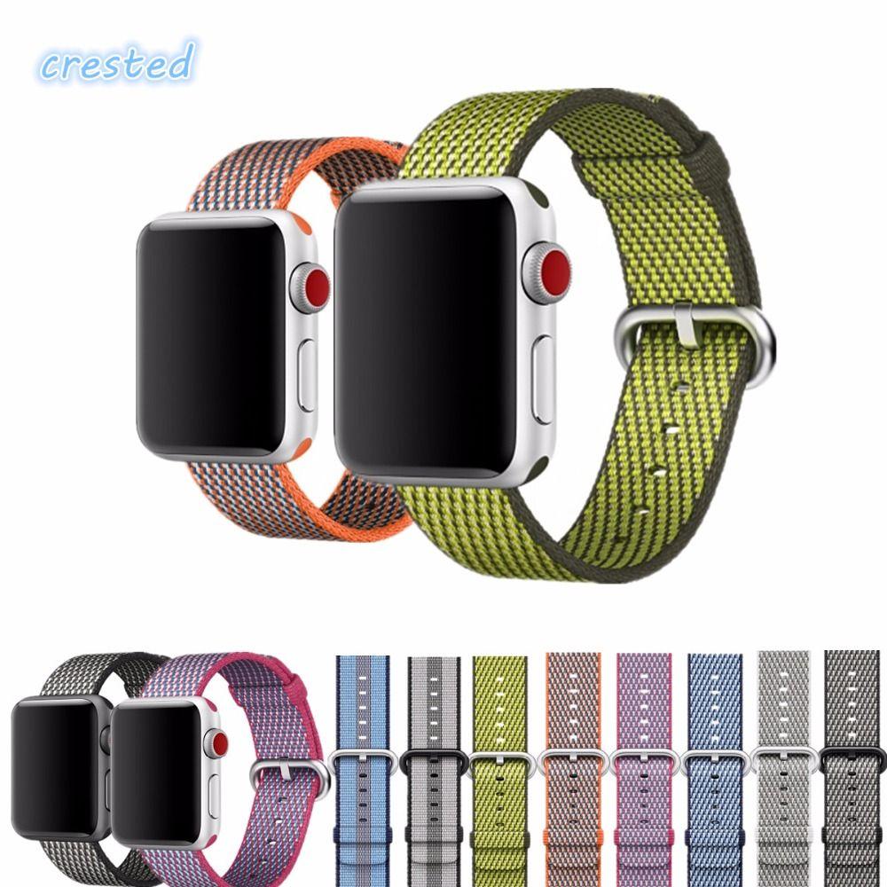 CRESTED Intrecciata cinturino In Nylon band per apple osservare serise 3 2  1 iwatch fascia 42mm 3457d463b29