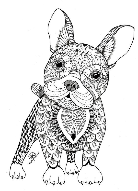 Zentangle Dogs Buscar Con Google Animal Coloring Books Mandala Rhpinterest: Coloring Pages Of Animals Dogs At Baymontmadison.com