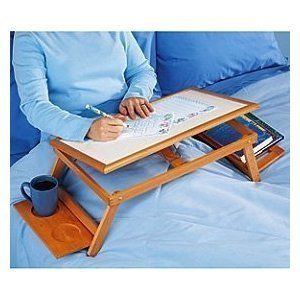 Multi Functional Laptop Reading Bamboo Stand Lap Desk Breakfast Bed Tray All Natural And Environmental Friendly Wood