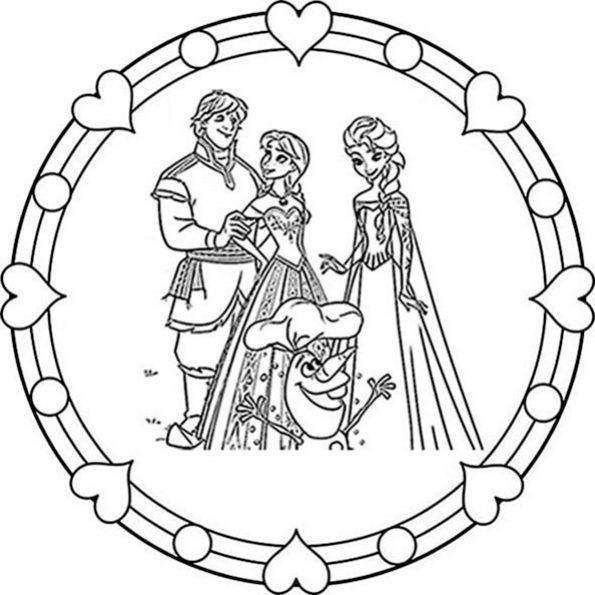 Eiskonigin Mandala Zum Ausdrucken 5 Ausmalbilder Anna Und Elsa Mandala Zum Ausdrucken Ausdrucken