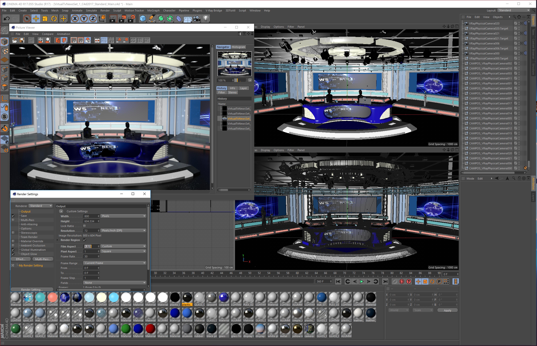 Virtual Tv Studio News Sets Collection 7 Post Production Studio New Set Virtual