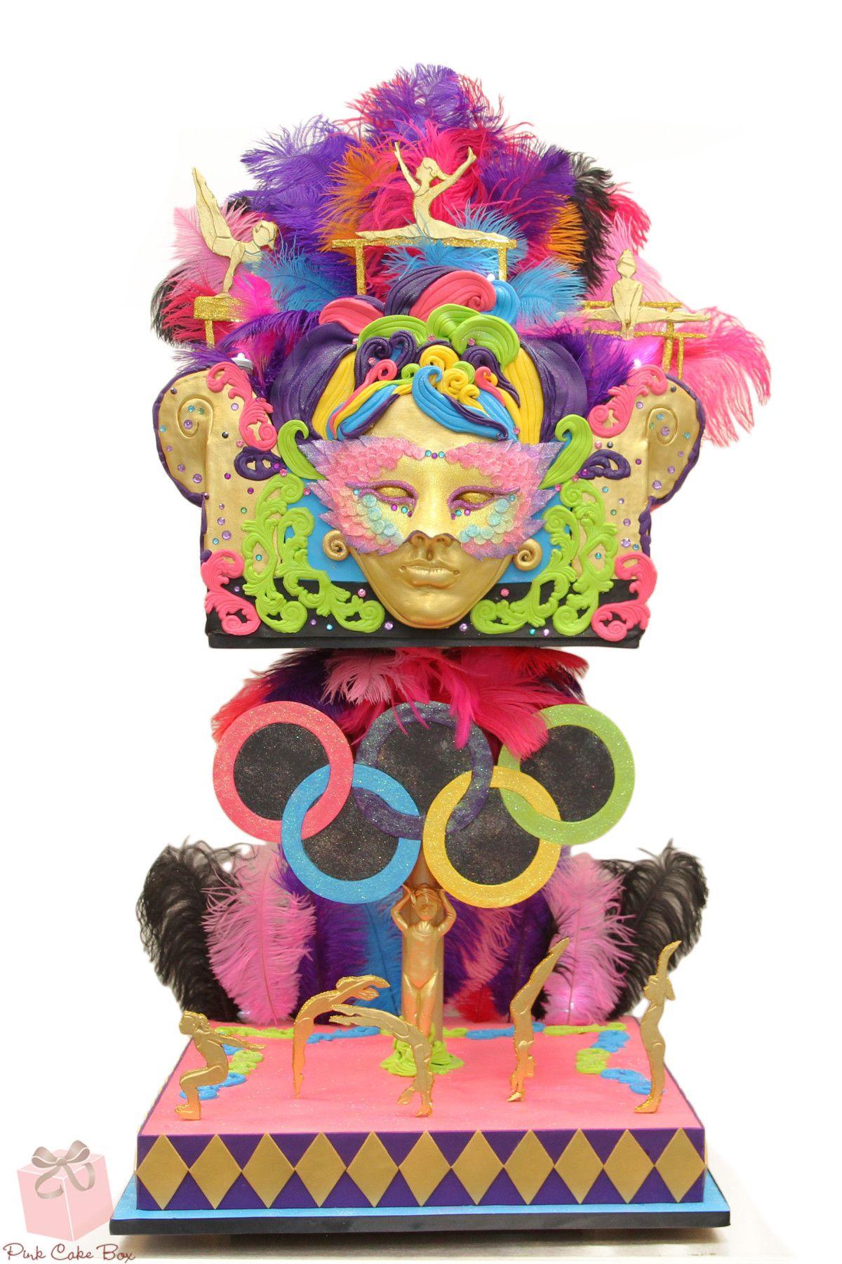 Carnival Toy Box Pink: Bat Mitvzah Brazilian Carnival Cake » Bat Mitzvah Cakes