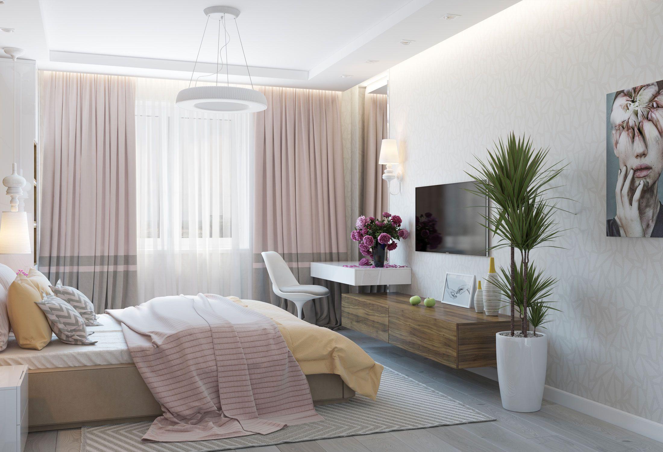 Интерьер спаРьни в современном стиРе Apartment
