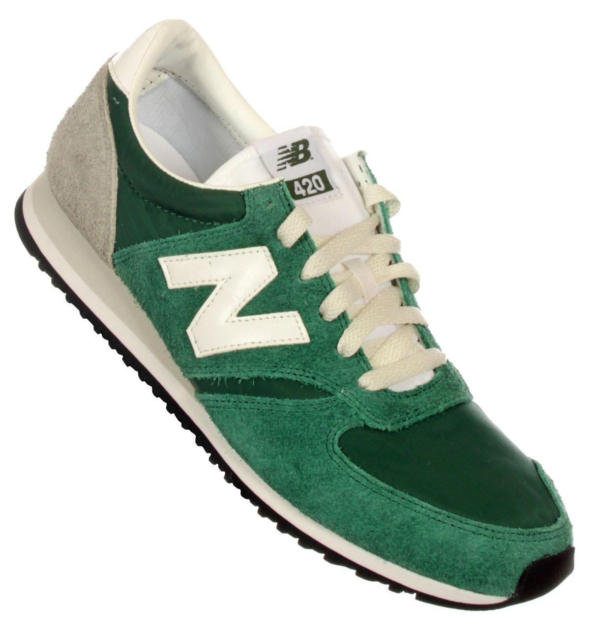 New Balance Footwear. New Balance 620 Green Nylon Trainers