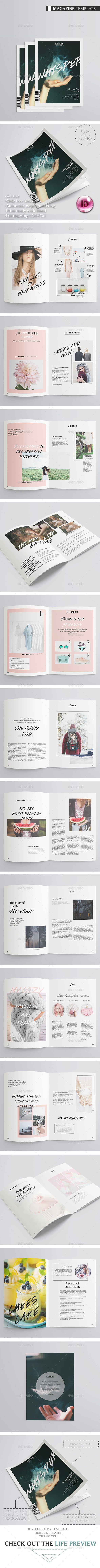 Features:26 unique pages Premade magazine cover Size A4 (210x297 ...