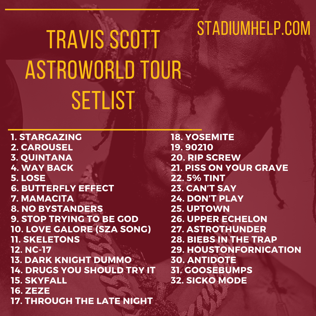 b158fcf0d24f Check out the Travis Scott Astroworld tour setlist and more! | Tour ...