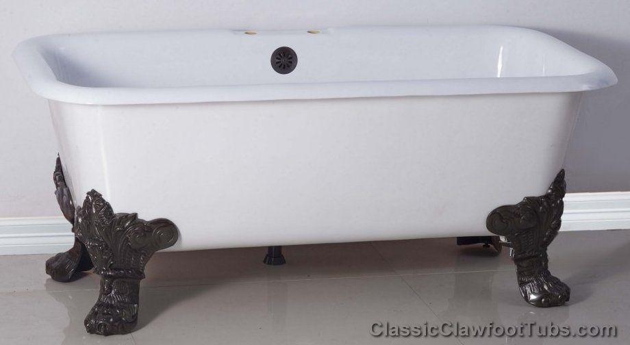 Square Tub Bathtub With Bear Claw Feet Tub Clawfoot Tub