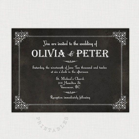 Silent Movie Screen Wedding Invitation By