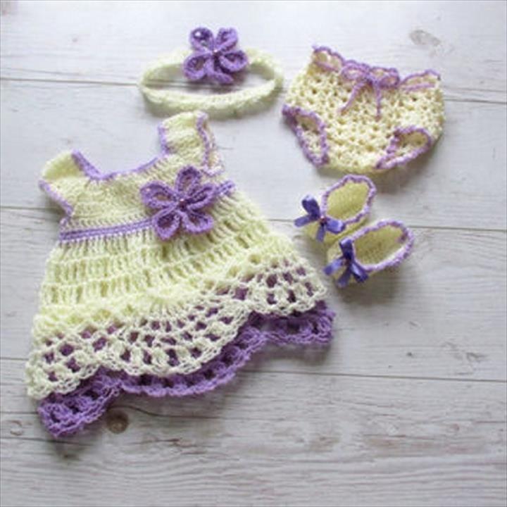 26 Gorgeous Crochet Baby Dress For Babies Crochet Baby Dresses