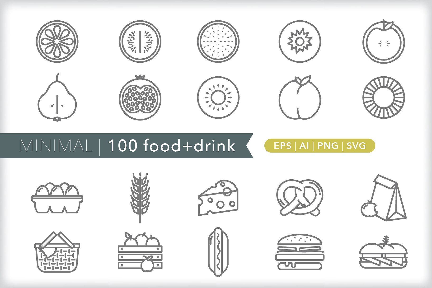 Minimal 100 food + drink icons (With images) Drink icon