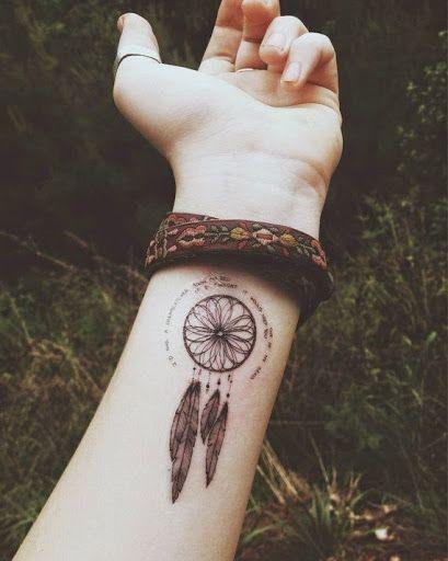 Tatouage Attrape Reve Bras : tatouage, attrape, Tatouage, Attrape, Rêve, Photos, Capteur, Ojibwés, Reve,, Tatouage,, Plume