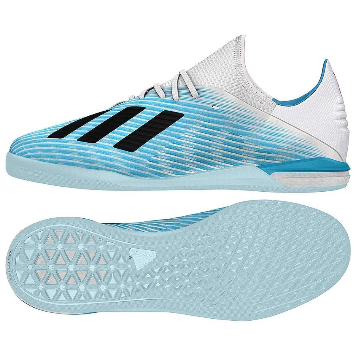 Buty Halowe Adidas X 19 1 In M G25754 Niebieskie Niebieskie Botas De Futbol Futbol Botas