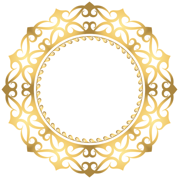 Gold Round Border Frame Clip Art Image Frame Clipart Clip Art Art Images
