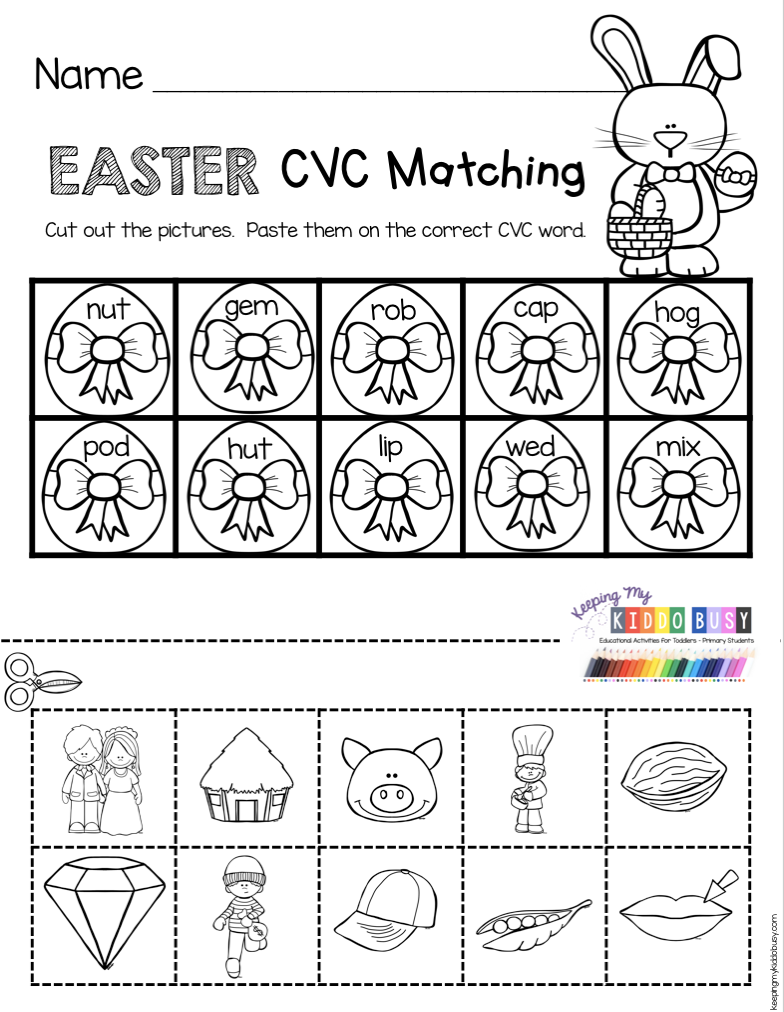 April In Kindergarten Free Worksheets Keeping My Kiddo Busy Easter Kindergarten Kindergarten Easter Worksheets Kindergarten Freebies [ 1012 x 784 Pixel ]