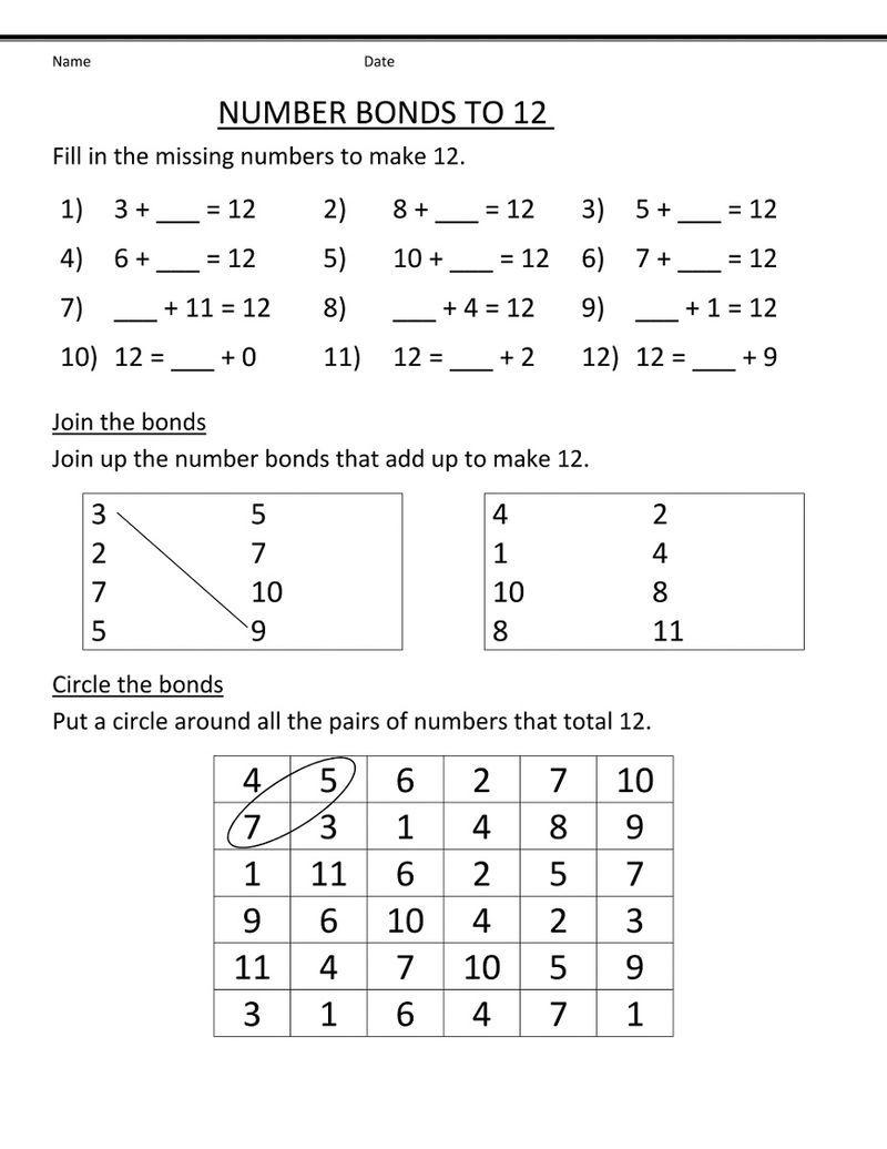 Number 12 Worksheets To Print