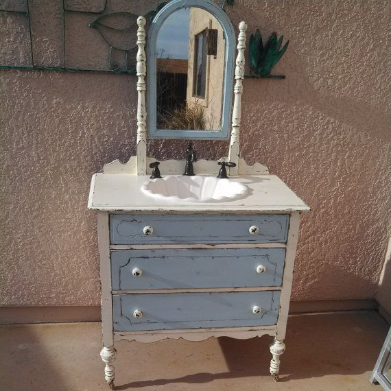 Miraculous Repurposed Dresser As A Bathroom Vanity With White Double Home Interior And Landscaping Analalmasignezvosmurscom
