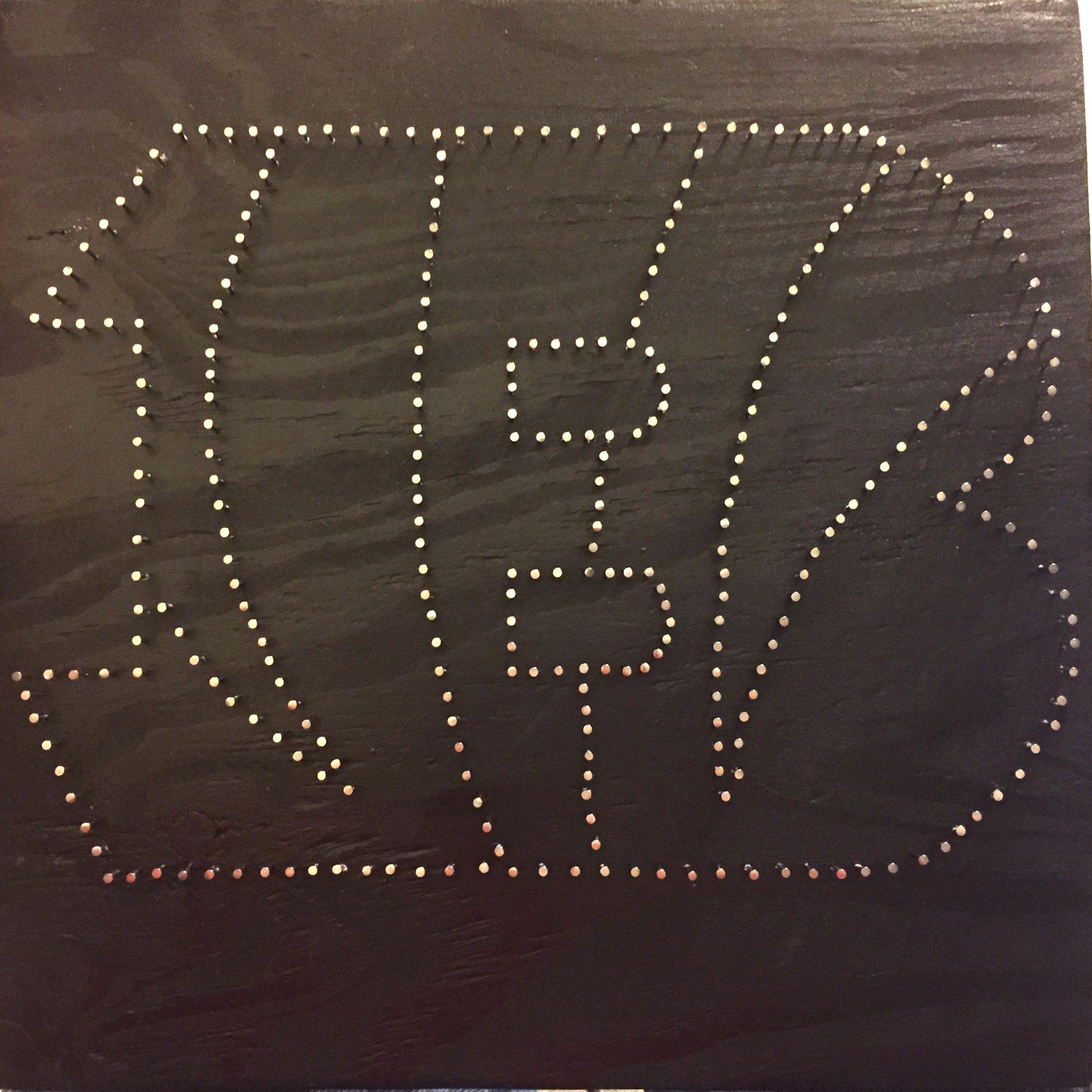 cincinnati bengals custom string art 12 x
