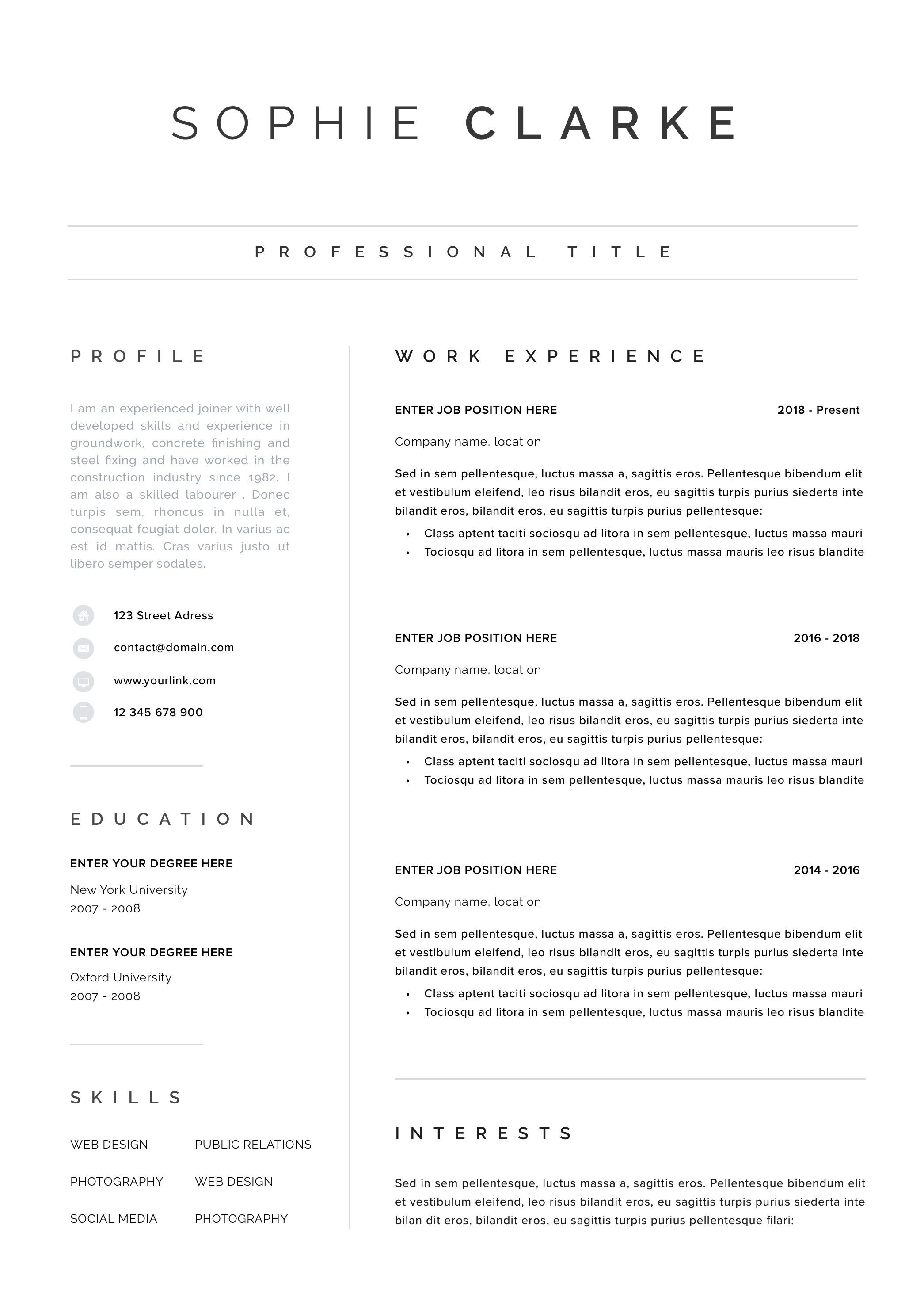 Resume Cv Monica Resume Cv Resume Cover Letter For Resume