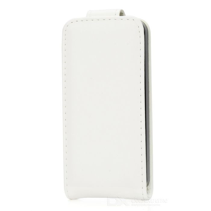 Stylish Flip-open PU + PC Case for IPHONE 5 / 5S - White