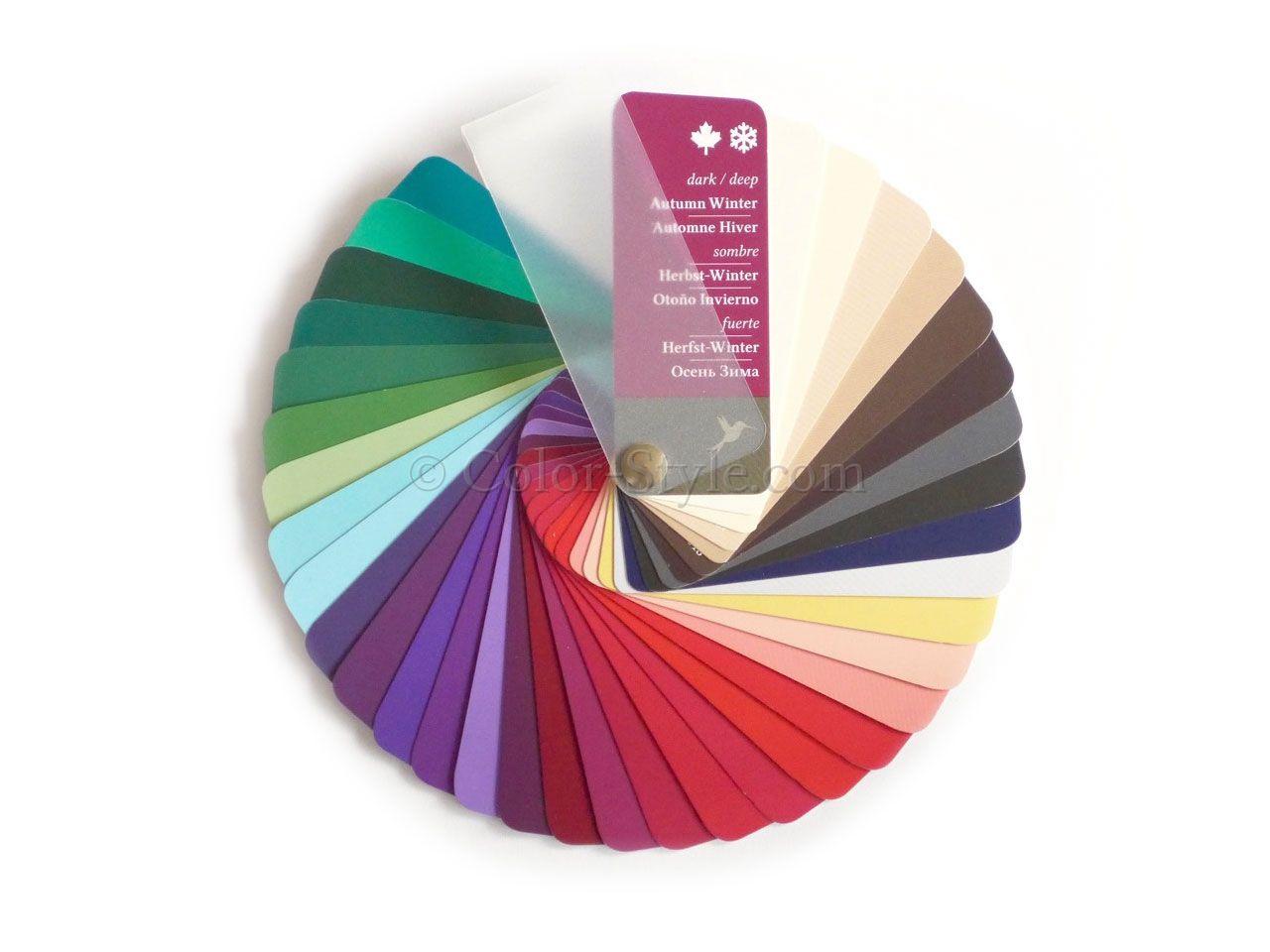 Farbpass Farben Herbst-Winter Farbtyp | dunkler Farbtyp Kombination ...