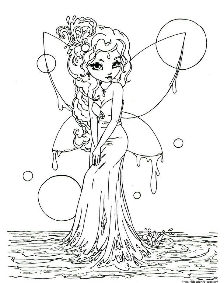 Pin By Michelle Bevis On Coloring Fairy Coloring Pages Coloring