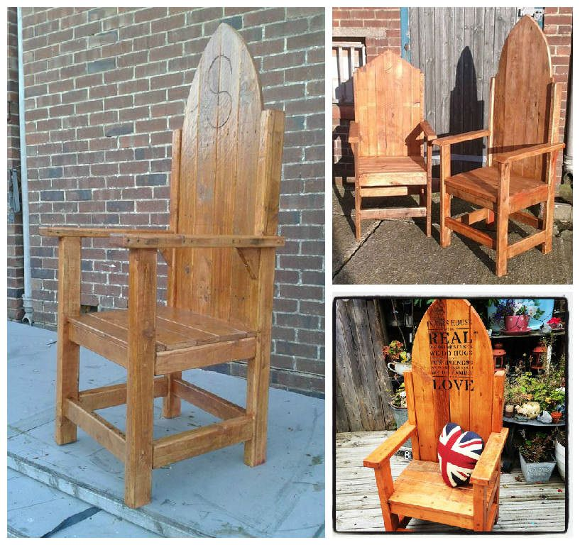 Thrones from Throne Together   Pallet chair, Recycled ...