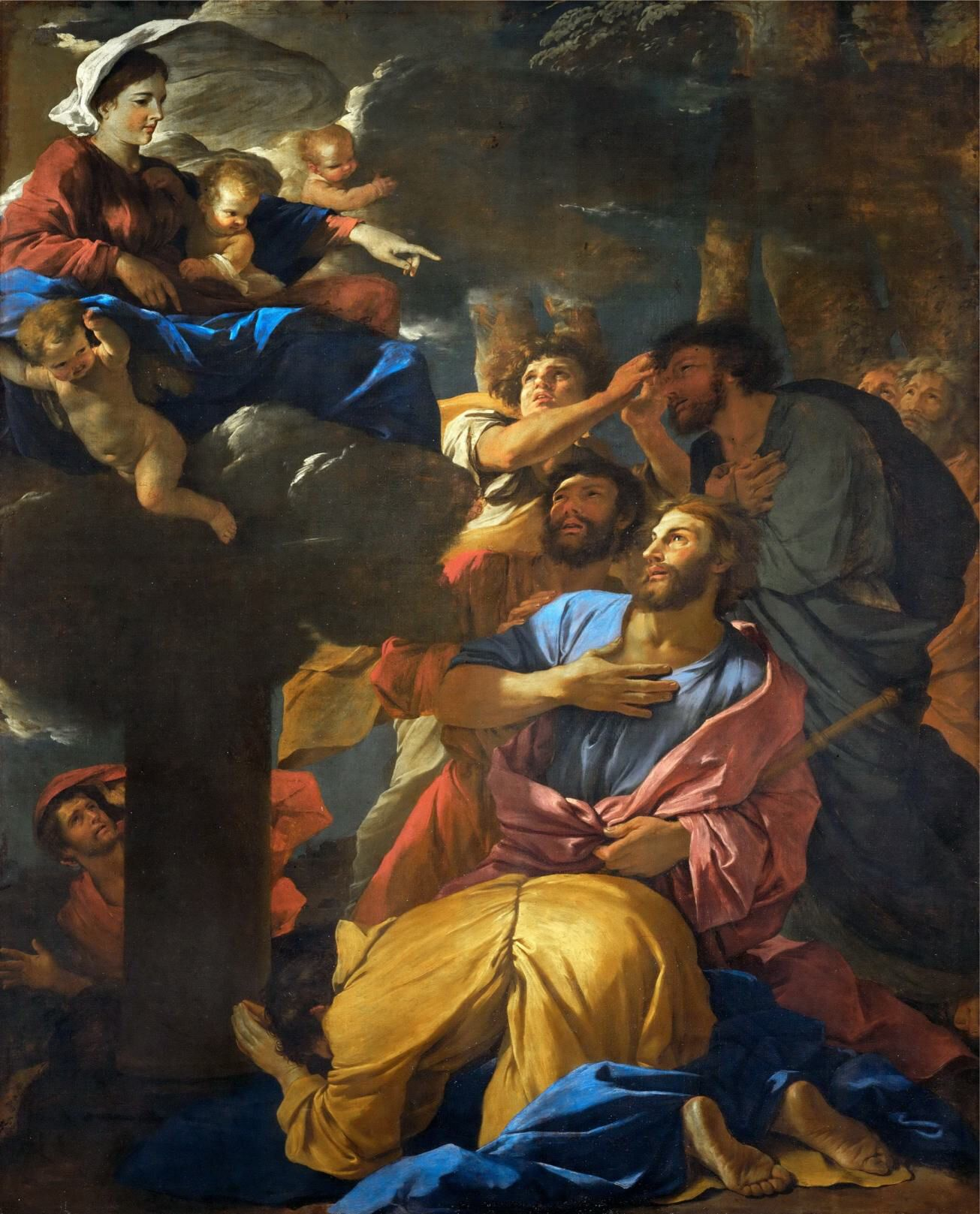 Nicolas Poussin - Appearance of the Virgin to Saint James the Greater