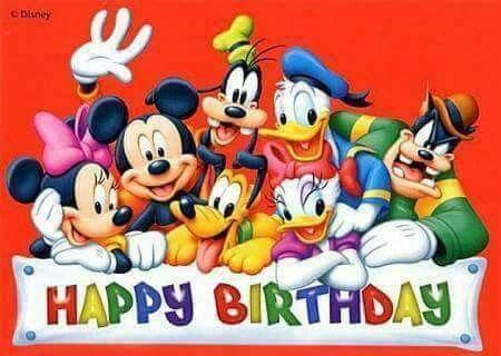 Pin By Pamela Anthony On Happy Birthday Happy Birthday Disney Happy Birthday Mickey Mouse Happy Birthday Images
