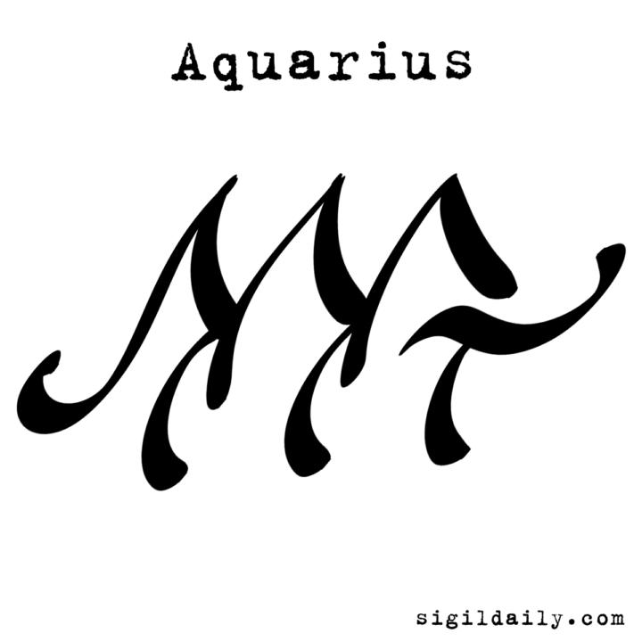 A Sigil Art Take On The Zodiac Symbol For Aquarius Horoscope