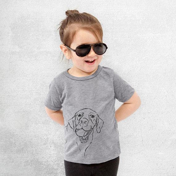 0b945b971f8 Bailey the Lab Tri-Blend Shirt - Kids Dog Tshirt - Animal Glasses T Shirt -  Children Girl Boy Unisex