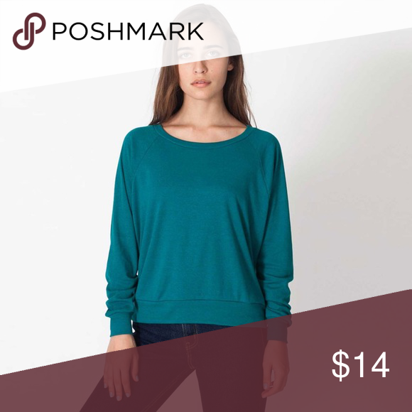American Apparel Pullover 🍂 American Apparel tri-blend lightweight raglan  pullover sweater in teal (Tri-Evergreen). Perfectly worn in and comfortable! d69ba29d0