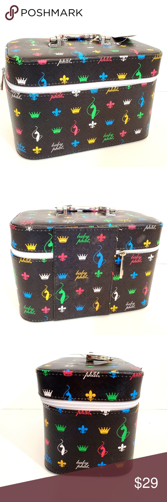 Baby Phat Multi colored Cosmetic Case NWT Baby phat