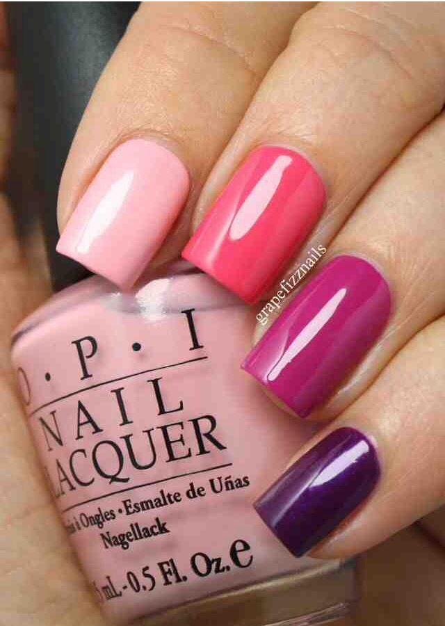 Shades of pink nails | nail art | Pinterest | Pink nails, Makeup and ...