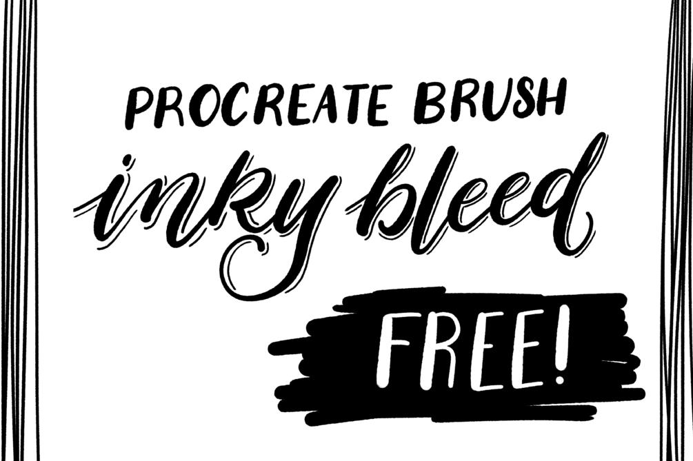 FREE Procreate iPad Lettering Brush - Inky Bleed   Procreate
