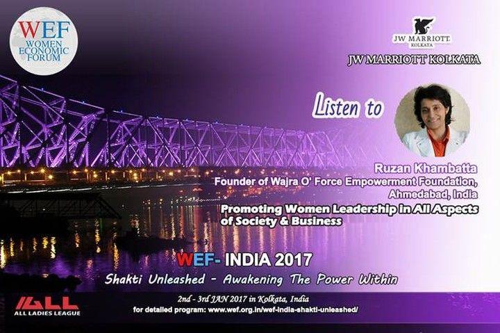 Friends looking forward to meet you in kolkatta @ Women Economic Forum 2017 (Shakti Unleashed - Awakening the power within) #womenleadership #womenempowerment #youthicon #motivationalspeaker #womeneconomicforum #wef