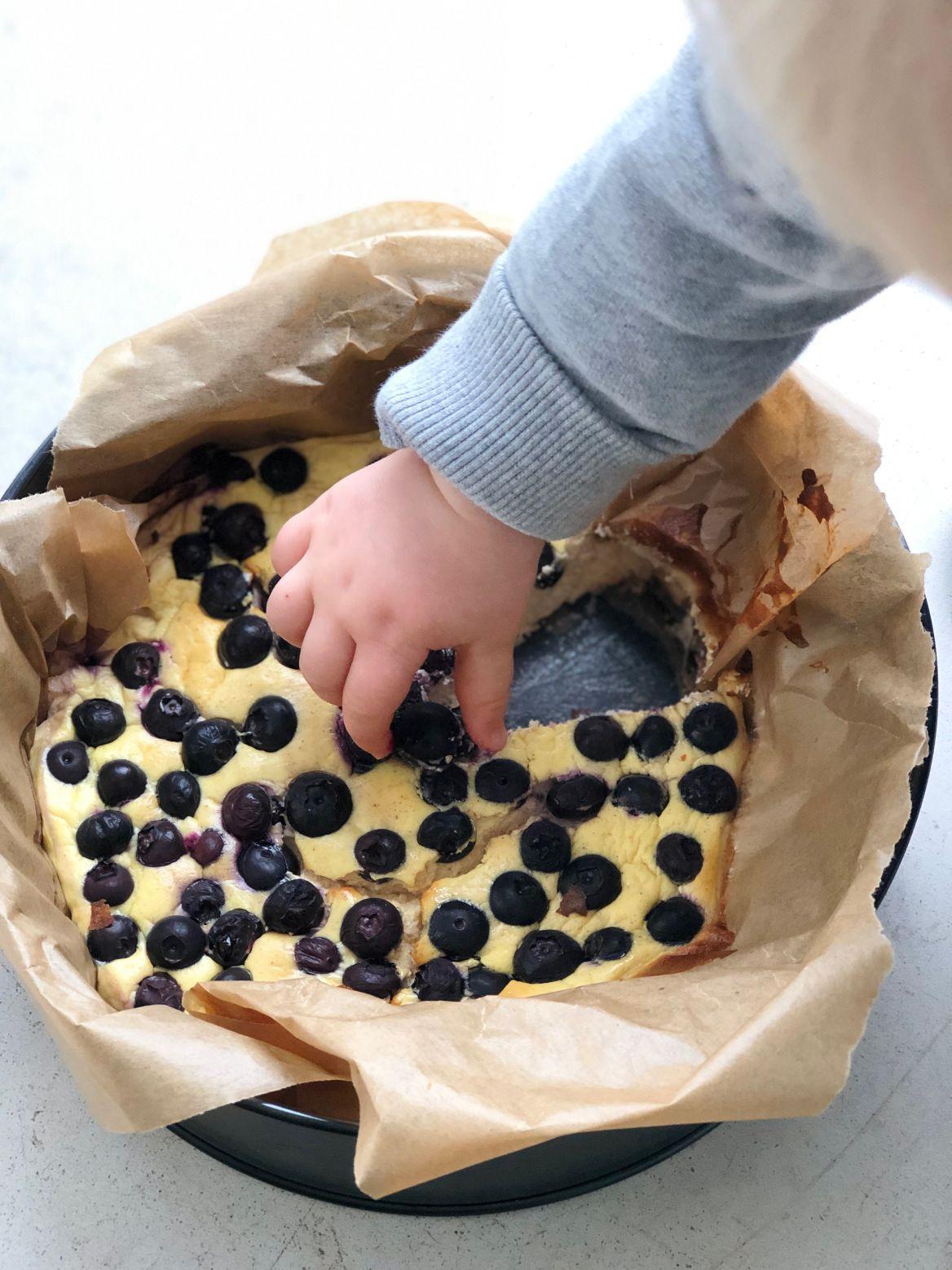Cheesecake au skyr et myrtilles – zéro culpabilité