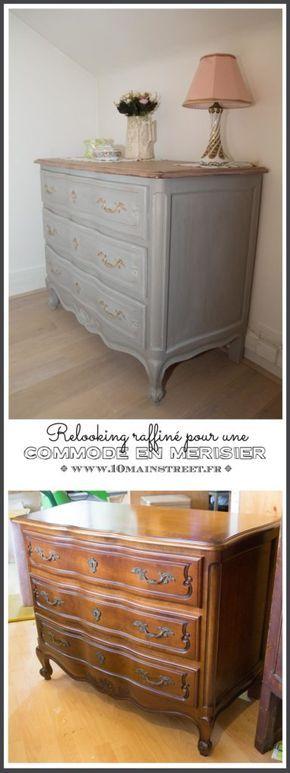 Relooking raffin pour une commode en merisier meuble Quel papier peint avec meuble merisier