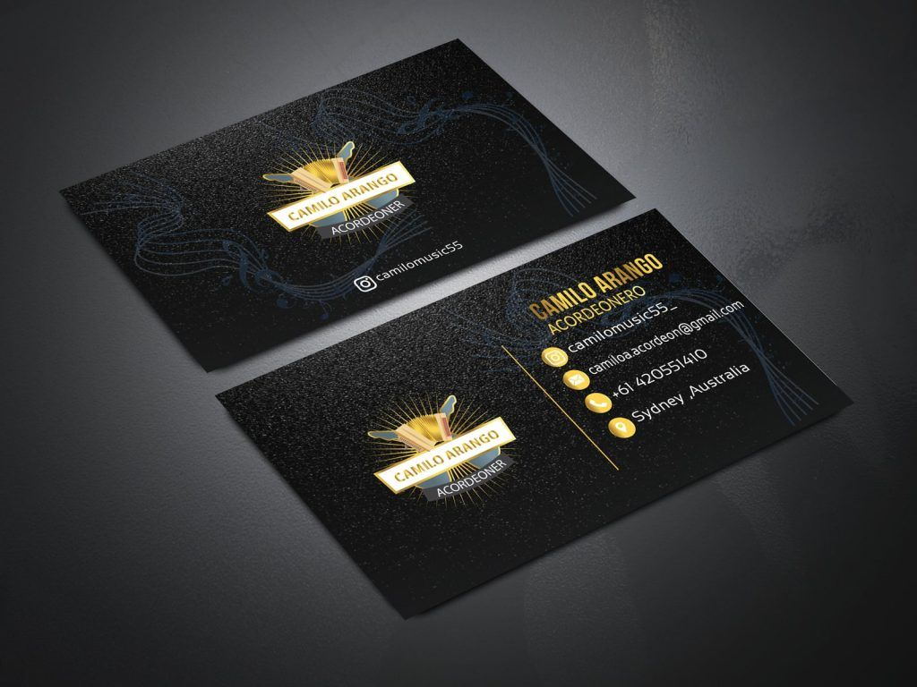 Gold And Black Business Card Free Mockup Free Business Card Mockup Black Business Card Mockup Business Card Mock Up