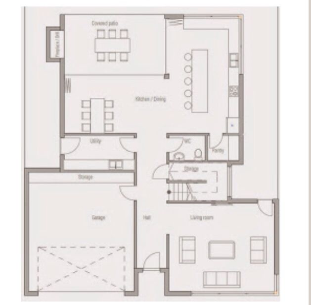 Plano Casa 4 Dormitorios Planta Baja Hall And Living Room Pantry Storage Floor Plans