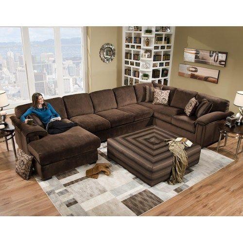 Corinthian 6500 6 Seat Sectional Sofa  sc 1 st  Pinterest : corinthian sectional - Sectionals, Sofas & Couches