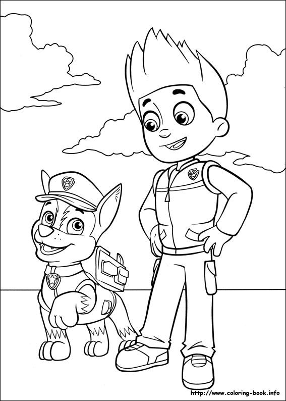 Chase And Ryder Paw Patrol Coloring Pages Dessin Pat