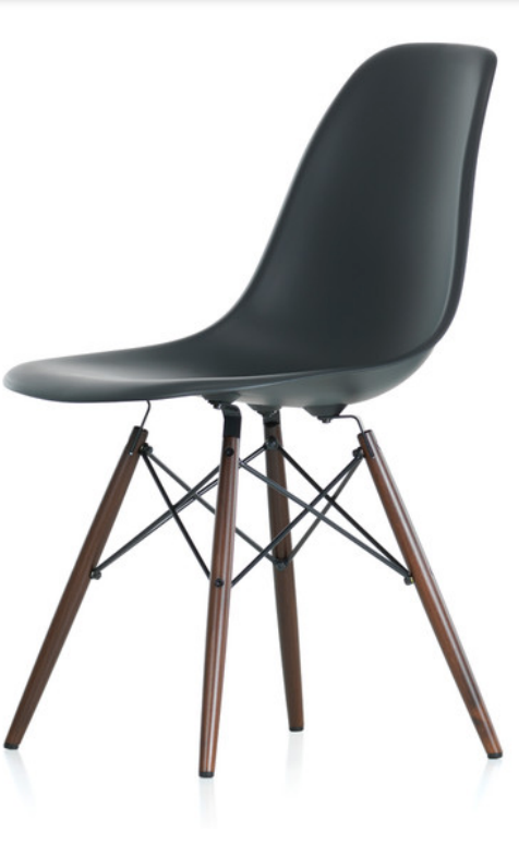 vitra dsw eames plastic side chair dark maple base - Iconic Chairs Design