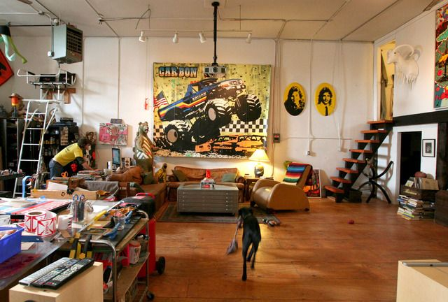 amazing artist studio + home, look at the complete gallery, creative living